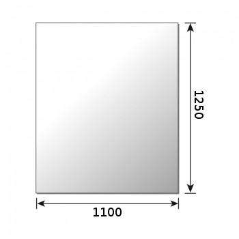 Glasbodenplatte Metherm Rechteck 1250 x 1100 mm