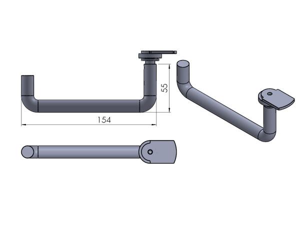 Termatech TT2 Türgriff grau