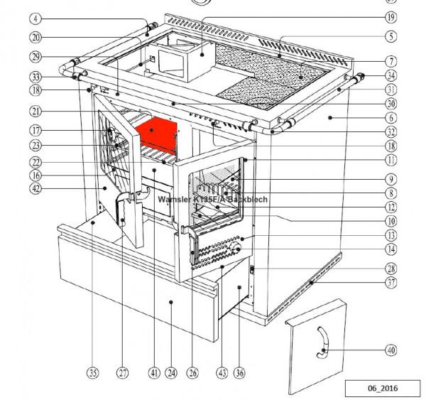 Wamsler K135F/A Backblech